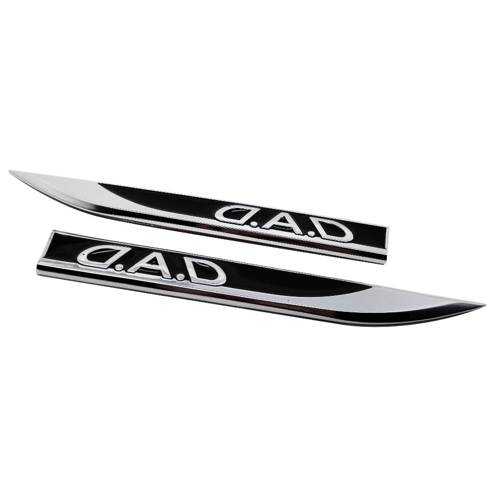 Car sticker side emblem for toyota corolla subaru lexus cadillac cts mazda cx5 kia bmw ford dad badge black decal car styling