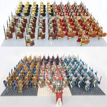 Castle Kingdoms RED LION GREEN DRAGON KNIGHTS BLUE LION RIDER W SHIELD & SWORD BLOCK COMPATIBLE Brick TOYS 21pcs/lot(China)