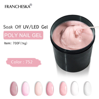 Camouflage Gel Polygel 1KG Finger Nail Extension Poly Gel Polish Cover UV Gel jelly transparent pink clear white builder quickly