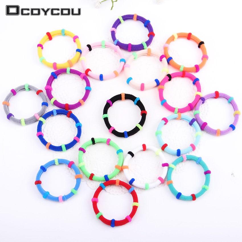 20PCS Colorful Hair Accessories Rubber Headbands Cute Hair Ring Gum for Hair Girls Elastic Hair Bands