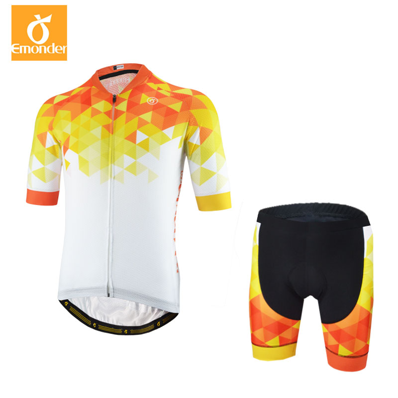 2018 Top Quality Men Cycling Jersey Set 12D Gel Pad Short-Sleeve Summer Cycling Clothing Mtb Road Ropa Ciclismo Maillot Yellow 176 top quality hot cycling jerseys red lotus summer cycling jersey 2017s anti uv female adequate quality sleeve cycling clothin