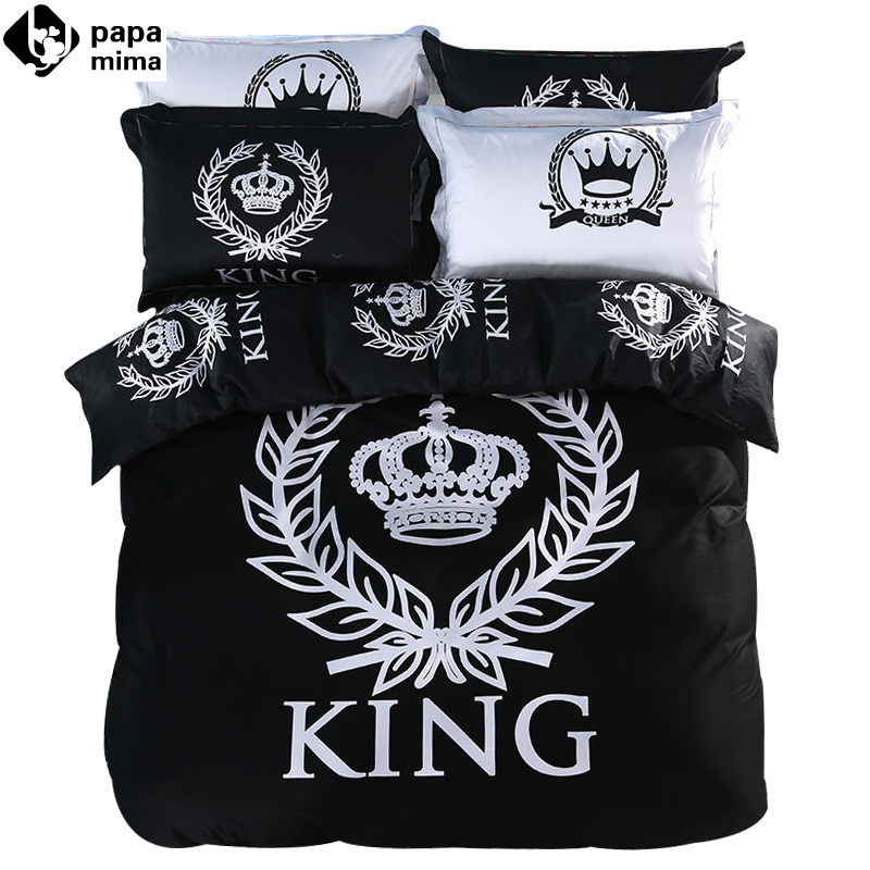 online get cheap black bedsheets -aliexpress.com | alibaba group - Copripiumino King Side Queen Side