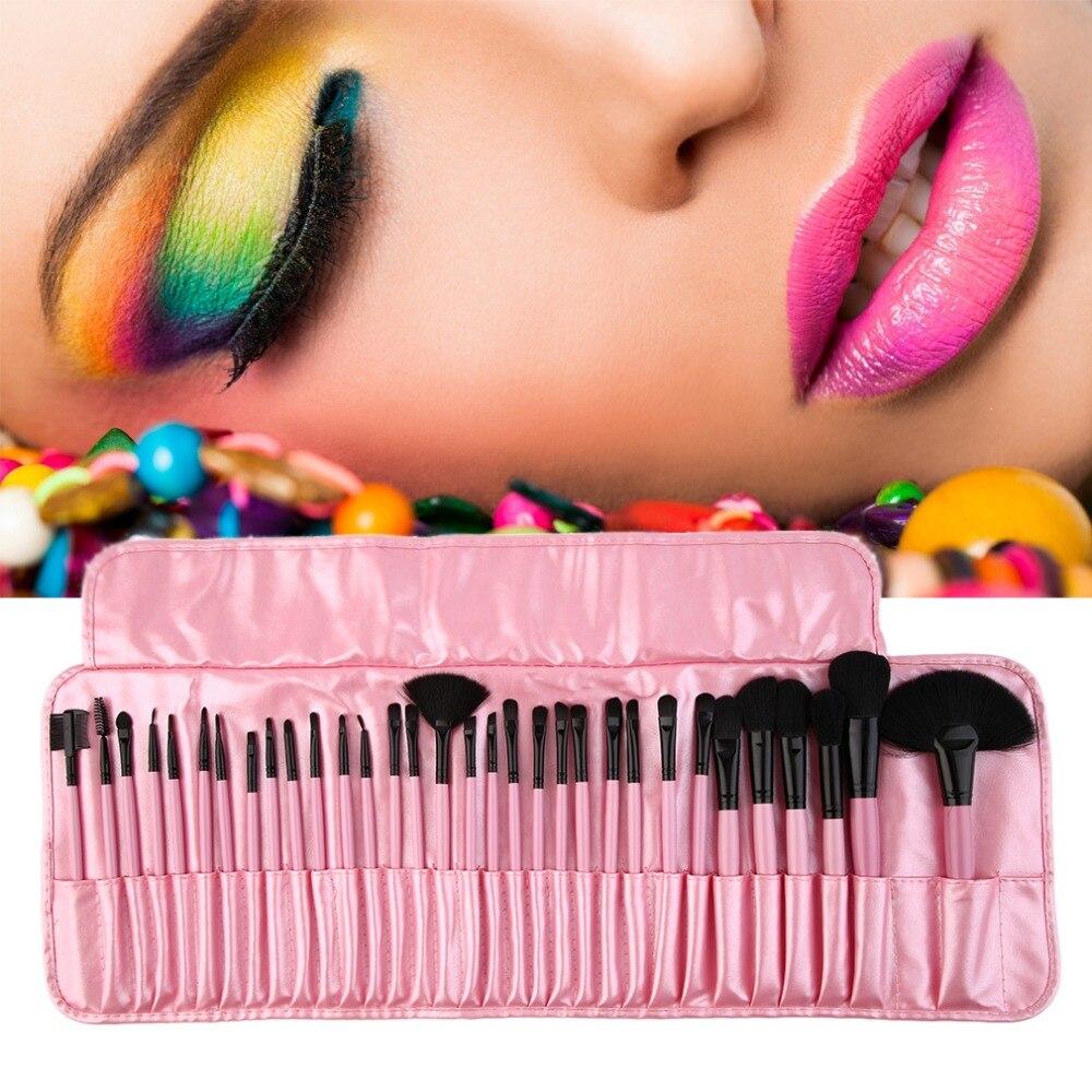 32pcs Makeup brushes set professional maquiagem Make-up Powder Blending brush Foundation Eyeshadow Eyeliner Lip Brushes Cosmetic 24pcs makeup brushes set cosmetic make up tools set fan foundation powder brush eyeliner brushes leather case with pink puff