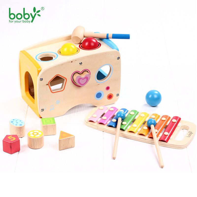 Musical Toys For Toddlers : Musical toys for children wooden music pounding bench