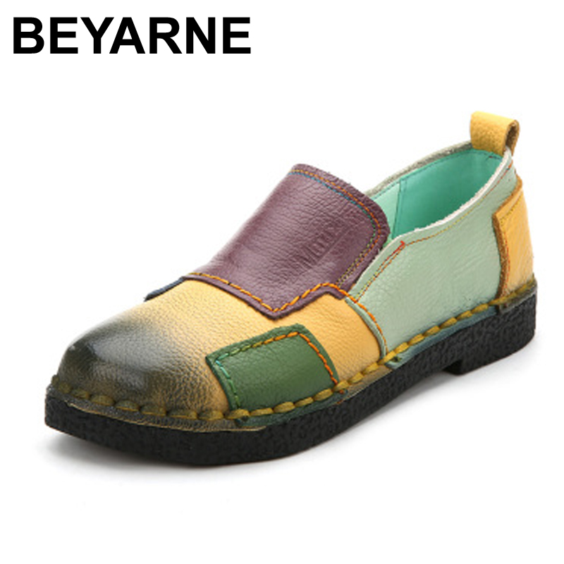 Handmade vintage women's shoes genuine leather female moccasins loafers soft slip-resistant color block casual shoes flats new style comfortable casual shoes men genuine leather shoes non slip flats handmade oxfords soft loafers luxury brand moccasins