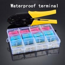 200PCS waterproof terminal heat shrinkable tube connection wiring nose crimping tool set combination 40J pliers стоимость