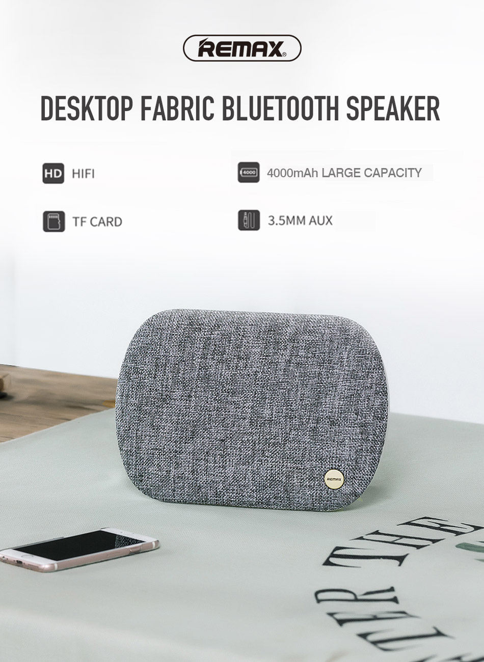 Remax Bluetooth 42 Speaker Portable Wireless Fabric Stereo Music Type Rb M23 Series Grey Bass Hd Sound System 6w2 With Tf Aux Usb