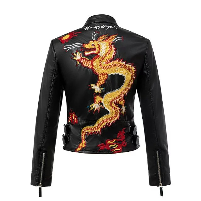 Online Buy Wholesale Dragon Leather Jacket From China