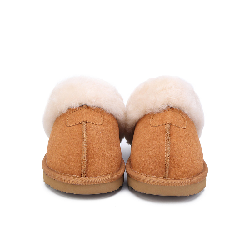 MBR FORCE Natural Fur Slippers Fashion Female Winter  Slippers Women Warm Indoor Slippers Quality Soft Wool Lady Home Shoes 1