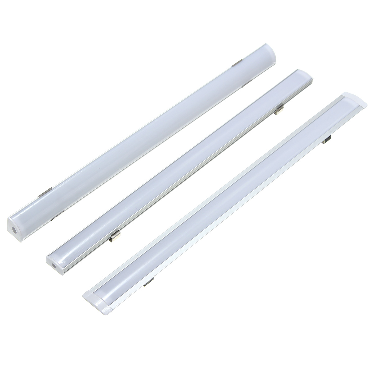 30cm U/V/YW Style Aluminium Milky Cover Rigid Channel Holder for LED Bar Light Strip DIY Lighting Under Cabinet Cupboard Lamp ...