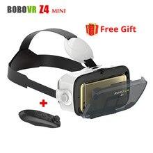 Montado En la cabeza de Google Cardborad BOBOVR Z4 Mini 3D de Vídeo Casco Gafas de Realidad Virtual VR Auricular para 4.7-6 Smart Phone + Controlador