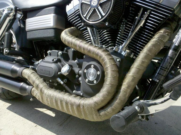 Exhaust Heat Wrap >> Ledaut 2 X16 Titanium Exhaust Heat Wrap Exhaust Pipe Heat Shield
