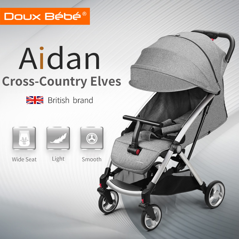 Doux bebe Lightweight Baby Buggy Four Wheels Stroller Portable Folding Baby Carriage 2 in 1 Travel System Prams for Newborn newborn baby stroller 3 in 1 portable folding strollers sit and lie four wheels 2017 convience prams umbrella stroller 0 3years