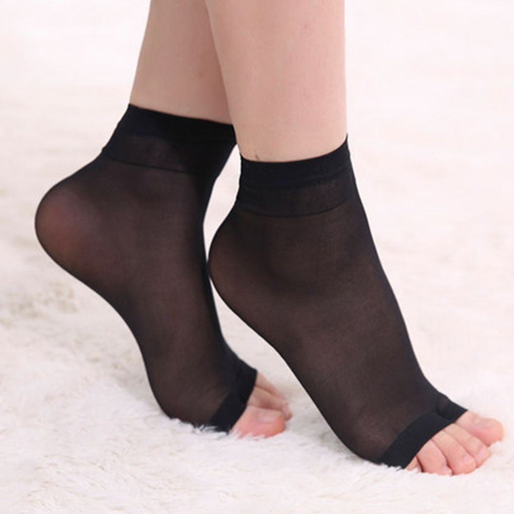 1 Pair Ultrathin Open Toe Invisible Foot Care Socks Fashion High Quality Softly Breathable Socks For Women