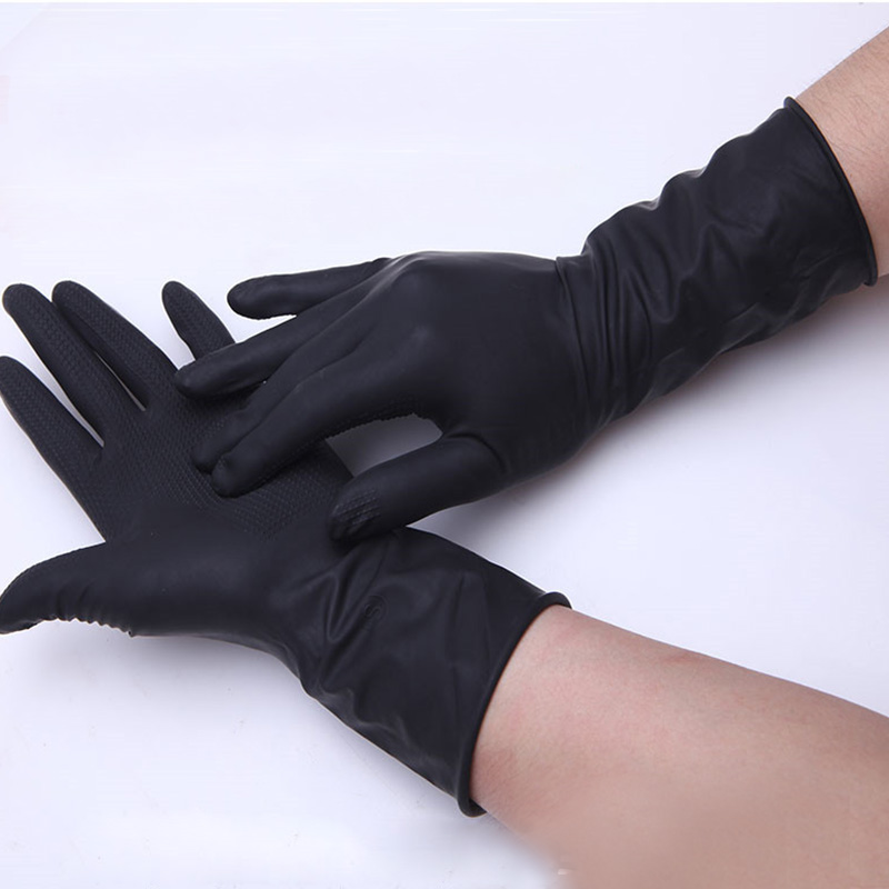 2016 Newly Black Rubber gloves hair perm hair shampoo natural ...