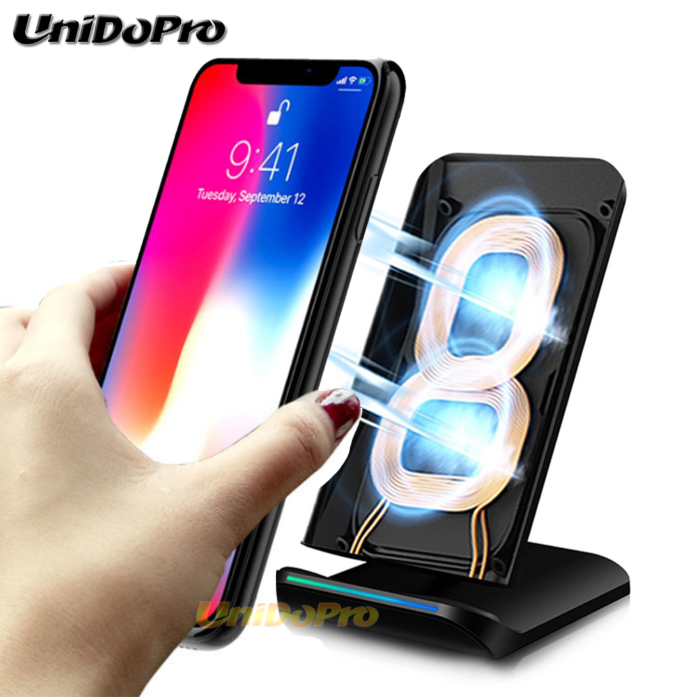 wireless charger pad for samsung galaxy s8 s9 plus qi. Black Bedroom Furniture Sets. Home Design Ideas