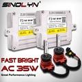 Unidade de ignição xénon brilhante rápida de sinolyn f3 d2h d2s h7 h1 h11 h3 hb3 hb4 hid kit de conversão blocos reator 35 w lâmpadas de lastro ac