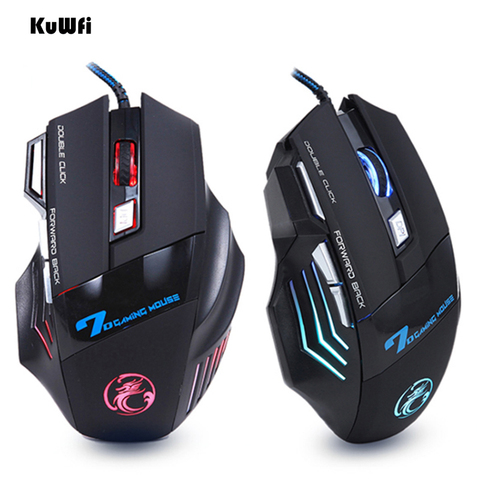 Professional Wired Mouse 7 Buttons 5500DPI LED Optical Gaming Mouse USB Cable Computer Mouse Gamer Mice for Desktop/Laptops Islamabad