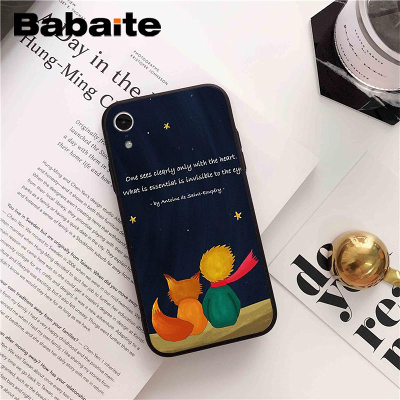 Babaite The Little Prince Novelty Fundas Phone Accessories Case Cover for iPhone 8 7 6 6S Plus 5 5S SE XR X XS MAX Coque Shell in Half wrapped Cases from Cellphones Telecommunications