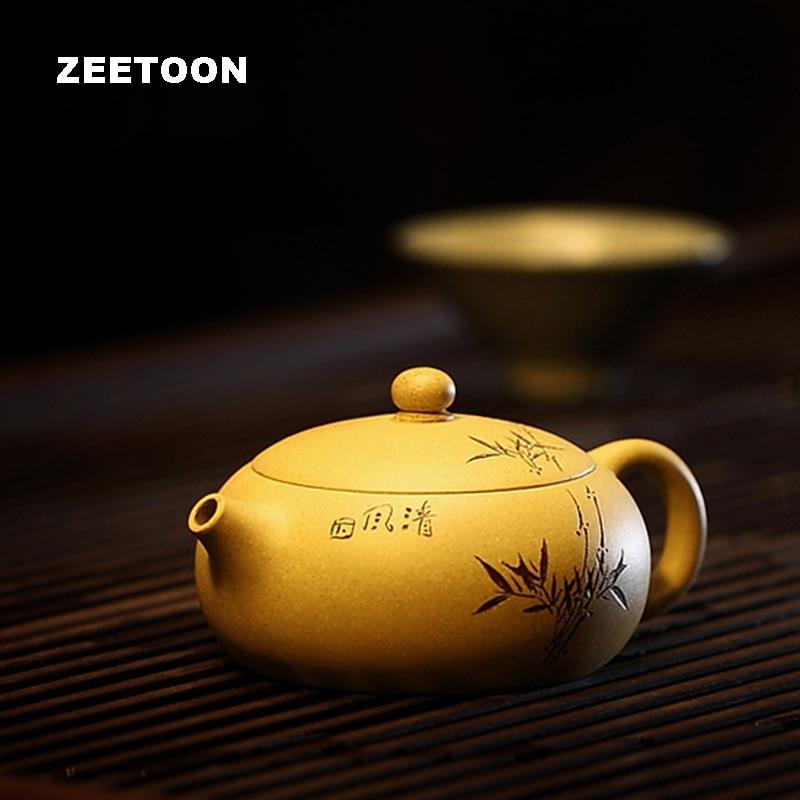 180cc Yixing Čajová konvice Creative Kung Fu čajový set Keramický purpurový jíl Handmade Duan Mud Xi Shi Pot Home Decor 1 Pot 2 šálek Kit New Nové
