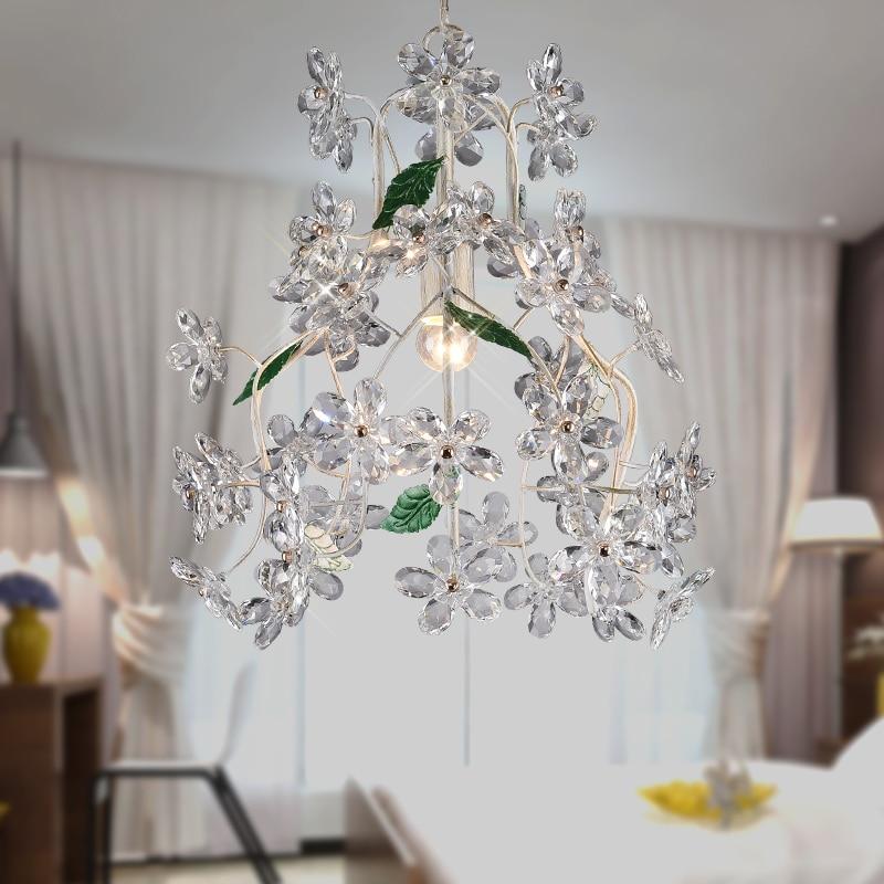 modern crystal flowers blooming brocade retro pendant light restaurant bar dining room hanging light vintage blooming flowers lace baggy beanie