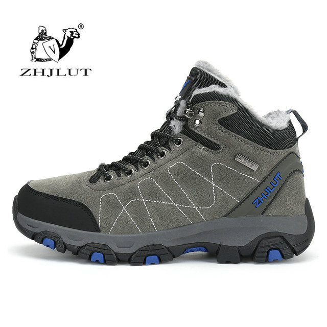 ZHJLUT Waterproof Hiking Shoes Anti-skid Men Outdoor Hiking Trekking Shoes Breathable Climbing Shoes Men Sneakers Size 36~44