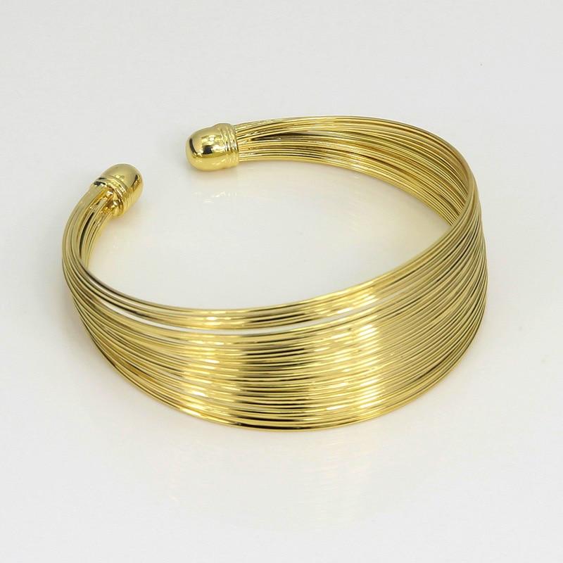 Fashion Dubai Jewelry Sets African Women Wedding Gold Wire Charm ...