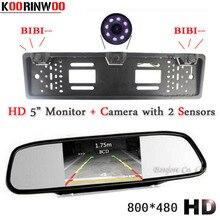 Koorinwoo парковка Сенсор HD Автомобильный Мониторы видео Европейский Номерные знаки для мотоциклов Рамки камеры Автоматическое реверсирование Cam зеркалом заднего вида радары