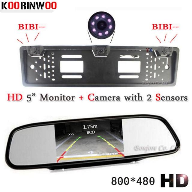 KOORINWOO Car parking Sensor HD Car Monitor Video European License ...