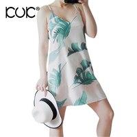 Kuk Boho Beach Summer Dress Women 2017 Casual Backless Sexy Dress Short Chiffon White Vintage Dress