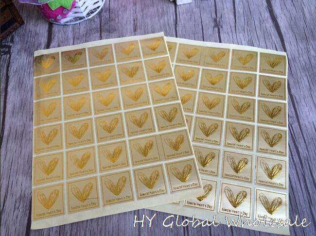 300PCS/Lot Vintage Golden ' special Heart day 'thanks series seal sticker DIY note gift Labels multifunction