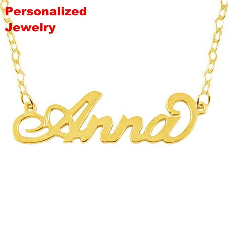 c775e7c14d5e Collar de nombre personalizado Senfai diseño personalizado monograma  inicial de acero inoxidable no ...