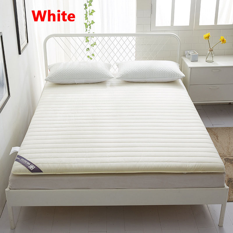Chpermore Solid color Thicken Mattress Single double student dormitory Tatami For Family Bedspreads King Queen Twin Full Size