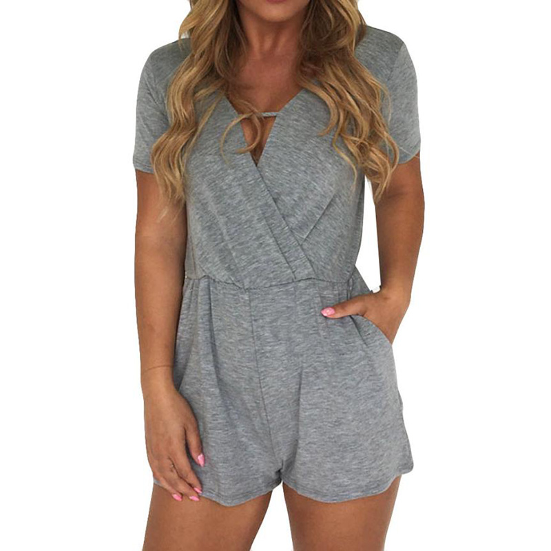 FEITONG Jumpsuits Clothing Summer Rompers Sexy Womens Casual Fashion Ladies Cotton