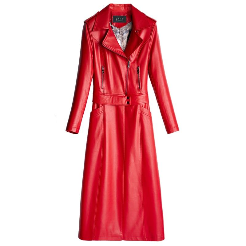 Kelly Ourlet Deux Sortes vent Veste Slim Long De Coupe En Manteau Sac Al557 New Porter Cuir Noir Amovible Femmes rouge Pu Longue WS6zOcT6F7
