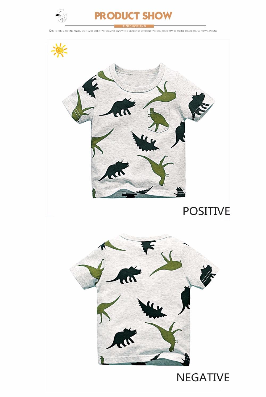 HTB1YU6IQpXXXXcgXFXXq6xXFXXXR - BINIDUCKLING 2017 Boys Short Sleeve T Shirts Summer Shirt Kid Baby Children Clothing Captain Anchors dinosaur printed tshirt