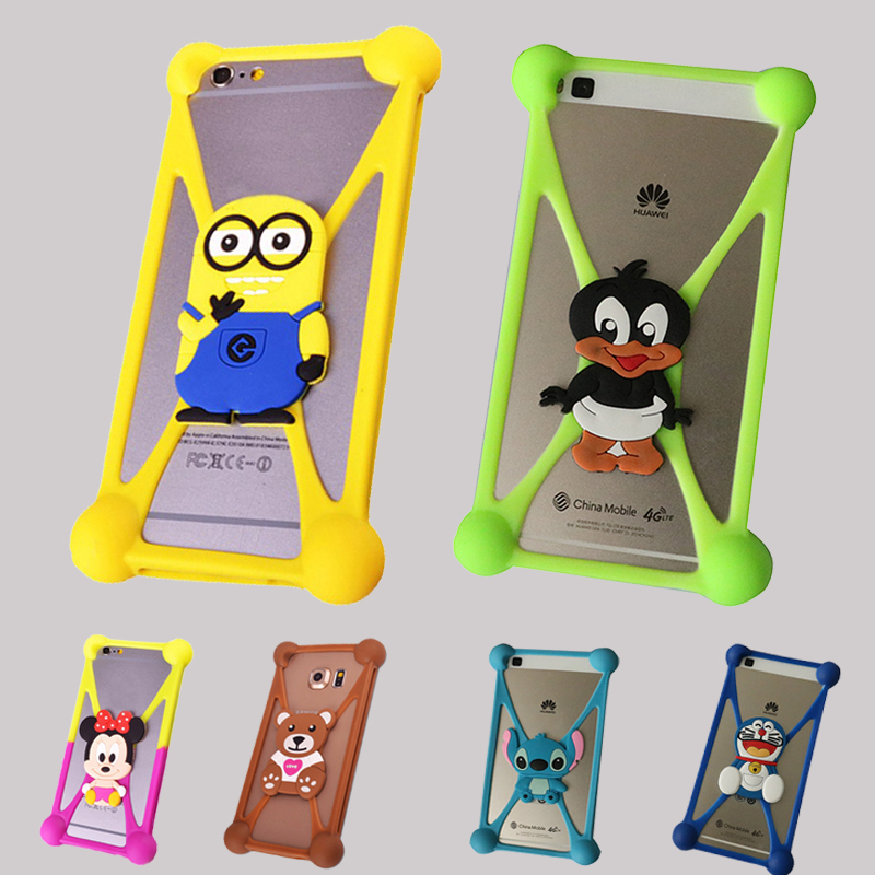 Universal Silicon Cartoon Coque Case For Wileyfox Spark X Huawei Y6 For Asus Zenfone 2 Laser