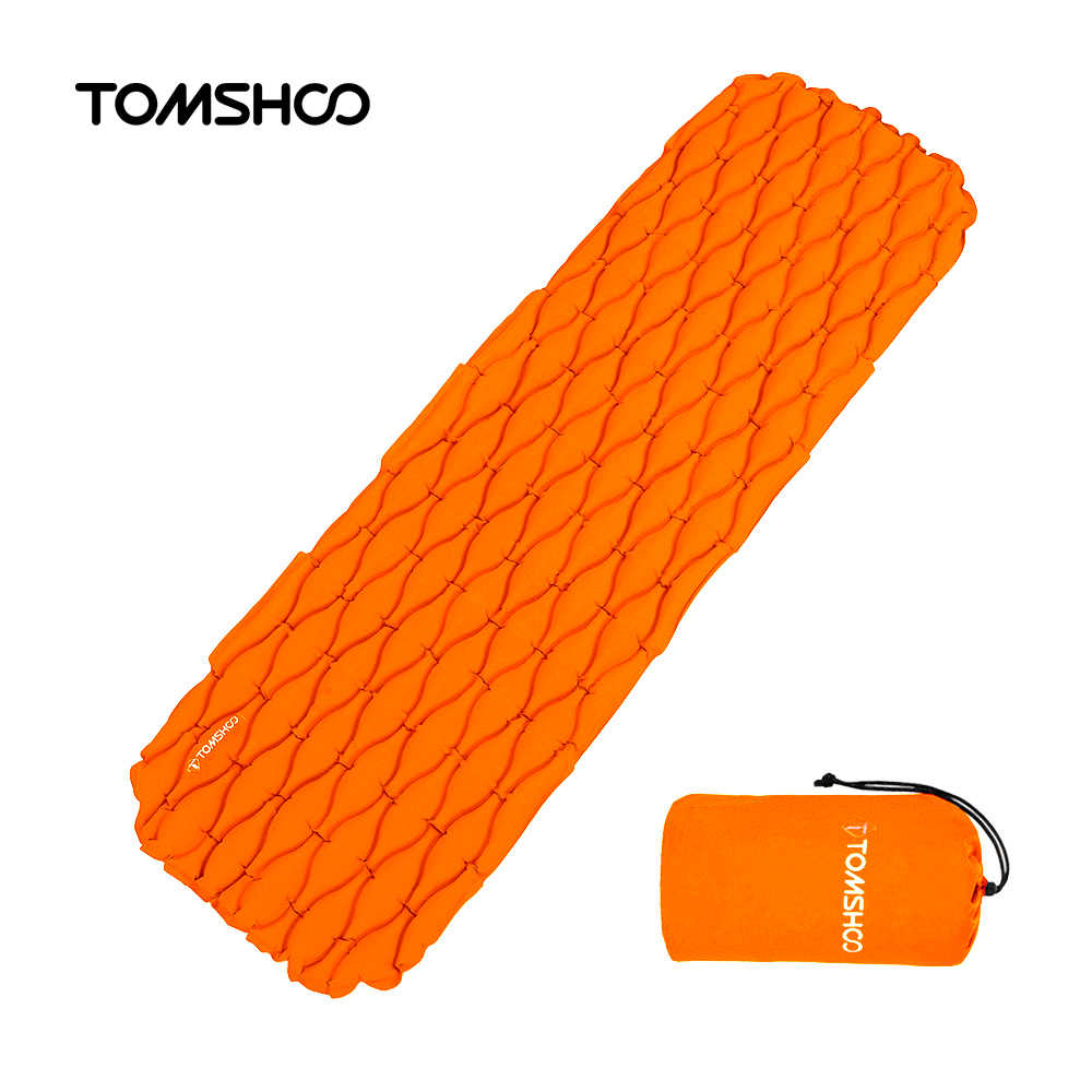 TOMSHOO Ultralight Outdoor Inflatable Cushion Sleeping Camping Mat Sleeping Pad Mattress for Camping Hiking Backpacking Travel