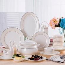 Jingdezhen ceramic tableware style suit bone china dishes set