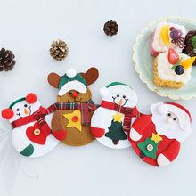 4pcs/set Christmas Decorations Snowman Kitchen Tableware Holder Bag Party  Xmas Ornament Christmas Decorations For Home Table