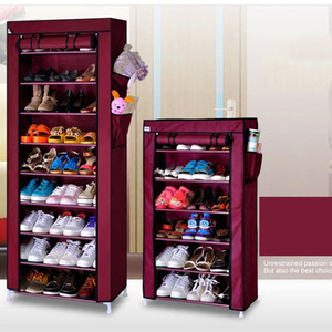 Image 3 - Actionclub หนาทอป้องกันฝุ่นตู้รองเท้า DIY Assembly เก็บรองเท้าชั้นวางรองเท้าชั้นวางของ 10 ชั้น 7 ชั้น