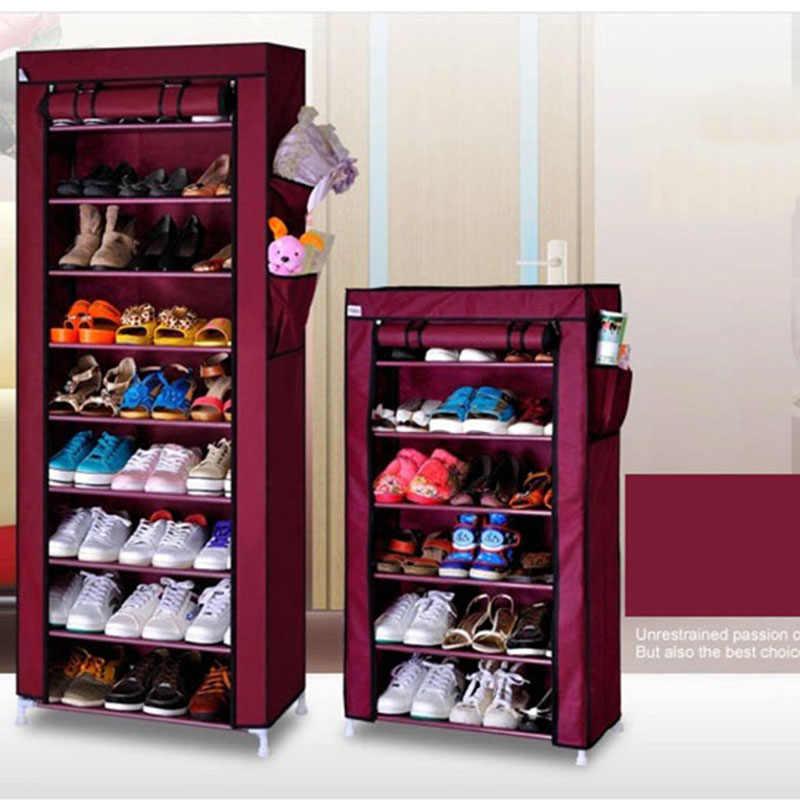 Actionclub سميكة غير المنسوجة الغبار خزانة خذاء لتقوم بها بنفسك الجمعية تخزين دولاب أحذية أداة تنظيم الأحذية رفوف 10 طبقات 7 طبقات