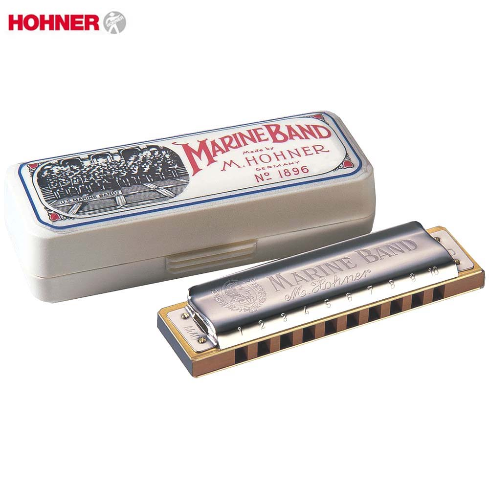 Hohner Marine Band 1896 Classic Harmonica Diatonic 10 Holes 20 Tone Mouth Organ Original Blues Harp Key Of C Musical Instruments