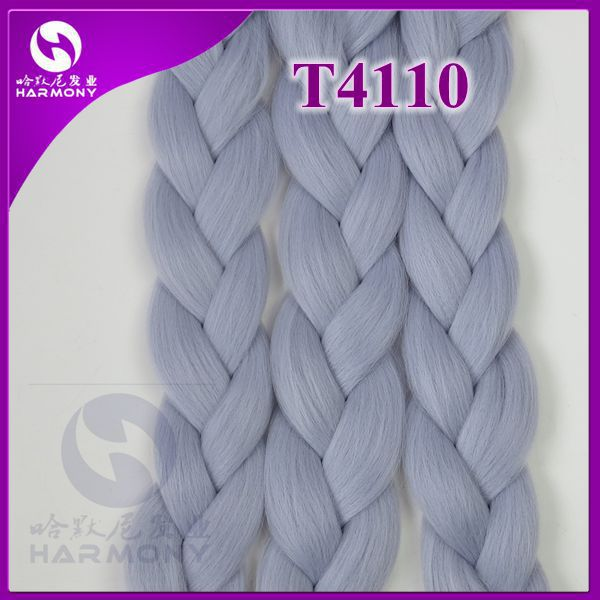 ! (15 packs, 80gram per pack) light gray braiding hair/jumbo hair/synthetic box hair - Harmony Hair Retails Site--Golden Supplier store