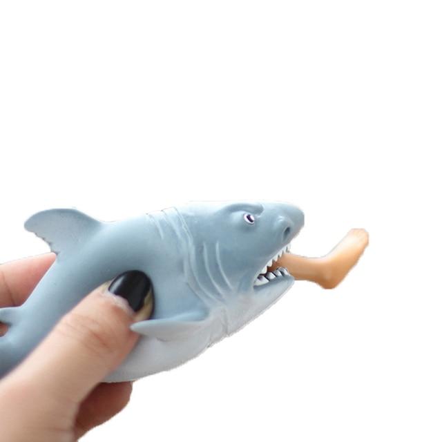 1 Stucke Halloween Shark Squeeze Stressabbau Druckminderer Anti