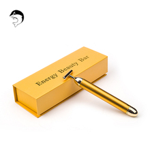 Slimming Face 24k Gold Vibration Facial Beauty Bar Skin Pulse Firming Facial Roller Massage Lift Skin Tightening Wrinkle Stick facial soft gel mask with acupoin therapy for face skin no wrinkle portable charging beauty vibration lift massage instrument