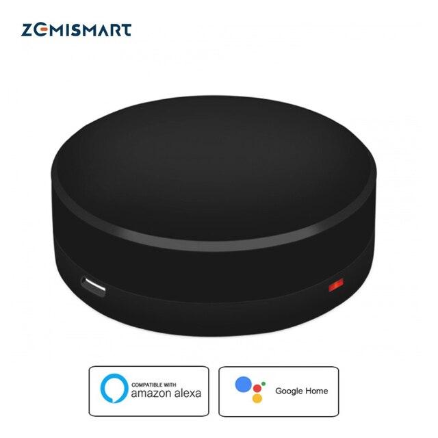 Zemismart IR puente Google Home Alexa Echo Control para ventilador de aire acondicionado infrarrojo TV Control remoto Universal