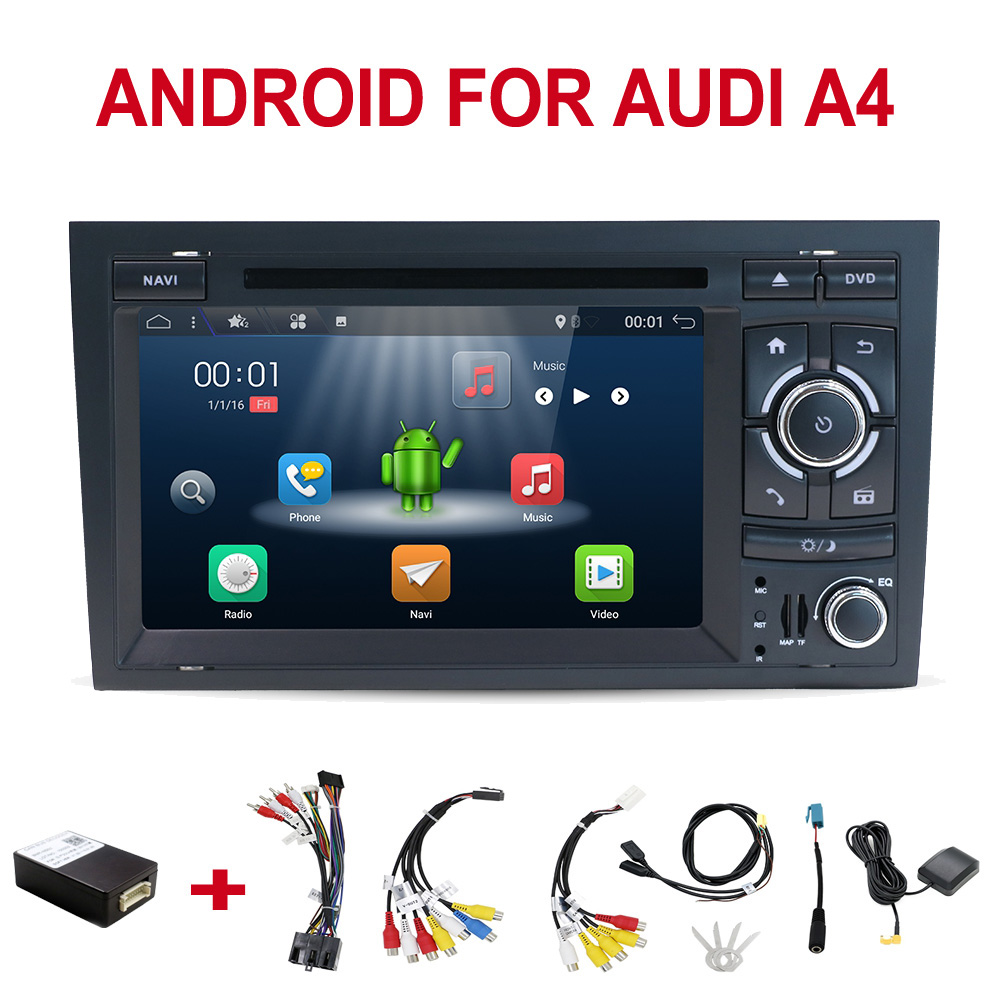 car <font><b>multimedia</b></font> player Android 8.0 2 din Capacitive screen Car DVD for <font><b>Audi</b></font> <font><b>A4</b></font> <font><b>B6</b></font> B7 S4 car radio gps navigation stereo headunit image