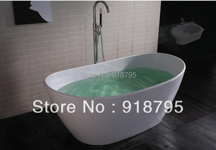 1630x850x640mm Solid Surface Stone CUPC Approval Bathtub Oval Freestanding Corian Matt Or Glossy Finishing Tub RS6509