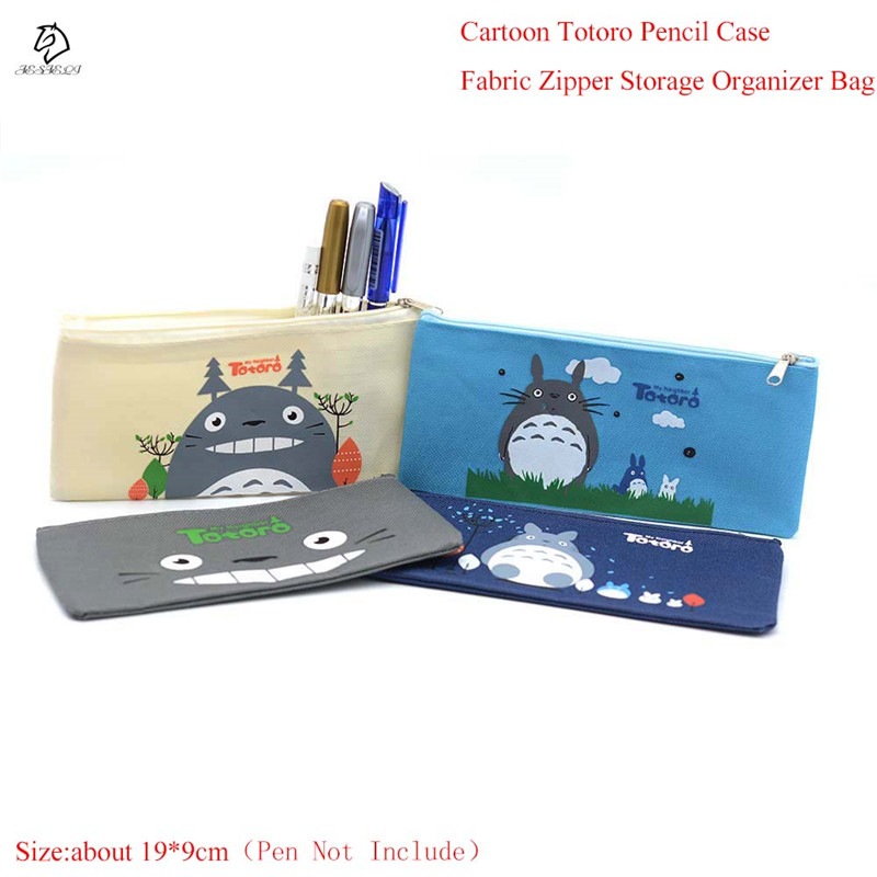 Trendy Kawaii Totoro Pencil Case Multifunction Fabric Cosmetic Bags Zipper Holder Bag Gift Stationery School Supply In Cases From Office